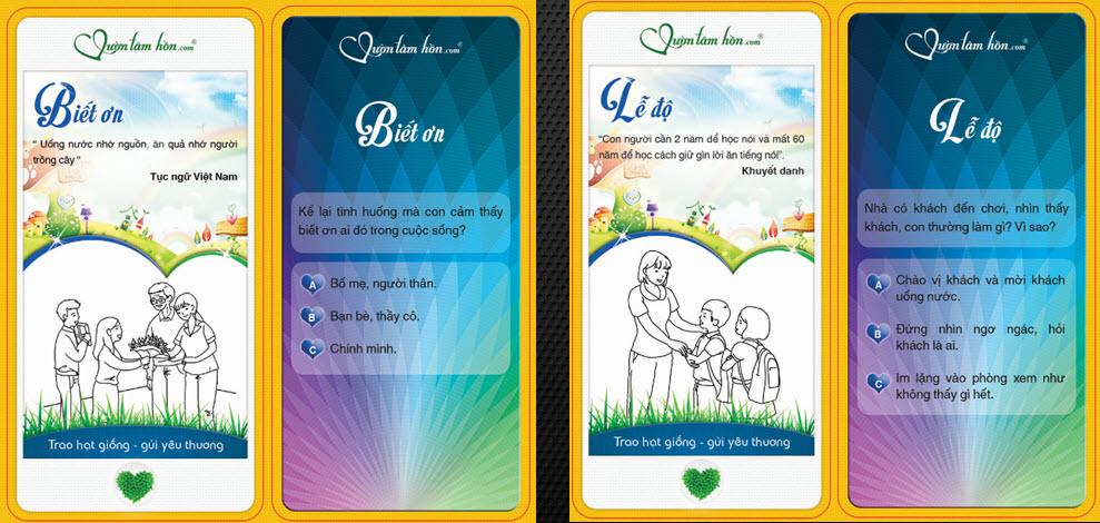 Vườn tâm hồn - Flash Card 50 phẩm chất