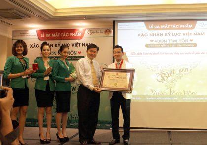 Vườn tâm hồn - Nhận kỷ lục Việt Nam