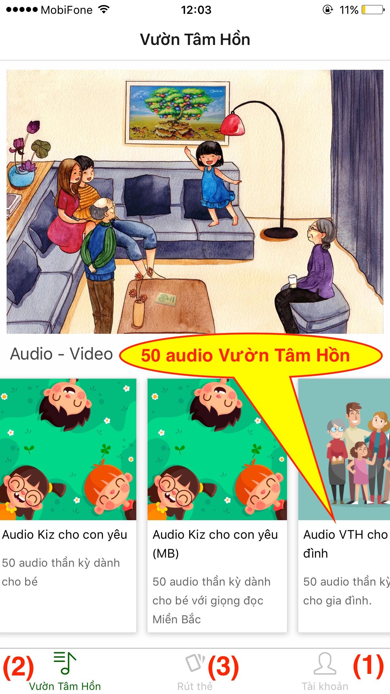 50 audio Vườn Tâm Hồn cho gia đình