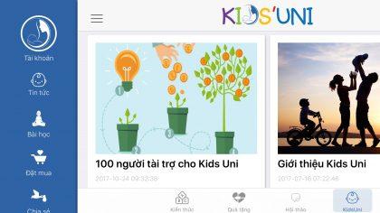 Kids Uni - Thư viện kiến thức dạy con dành cho cha mẹ thế kỷ 21