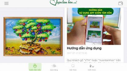 Kích hoạt ứng dụng Vườn Tâm Hồn trên điện thoại