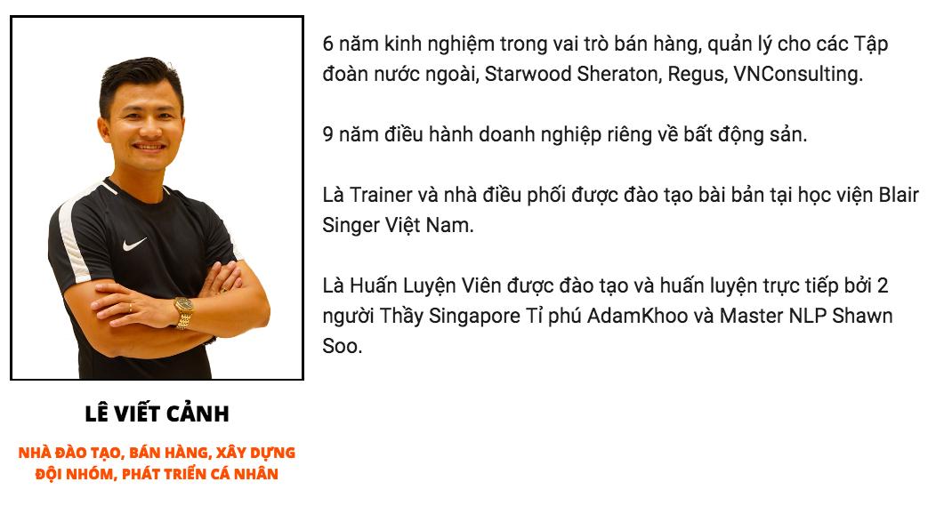 Bán Hàng Bất Động Sản Đỉnh Cao - Trainer Lê Viết Cảnh