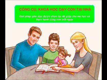Khoá học, công cụ giáo dục gia đình tại Thế Hệ Vàng